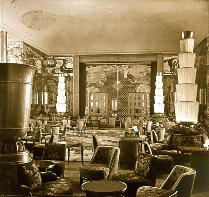 Grand salon of the ss normandie 1935 urban planning for Idee deco grand salon
