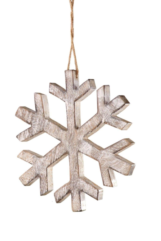 Sage Co Lodge Wood Snowflake Christmas Ornament Set Of 4 Wood Snowflake Christmas Ornaments Christmas Ornament Sets