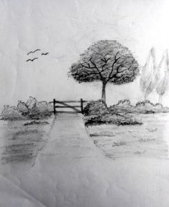 Nature Landscape Sketch Easy Nature Paintings Simple Nature Drawing Landscape Sketch