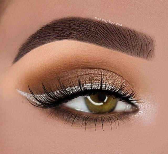 This Silver Liner With Bronze Eyeshadow So Match Eyeliner