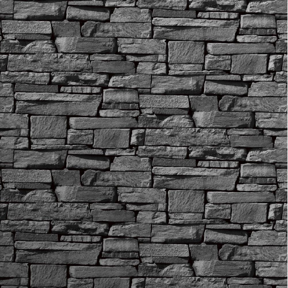 Stone Wall Paper grandeco dax dry stone wall slate brick effect vinyl wallpaper