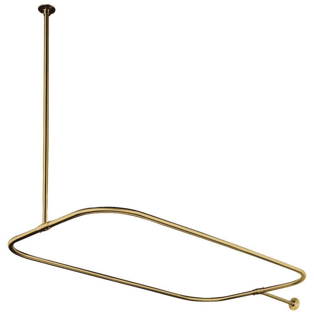 Kingston Brass 44 5 In X 25 In Rectangular Shower Rod In
