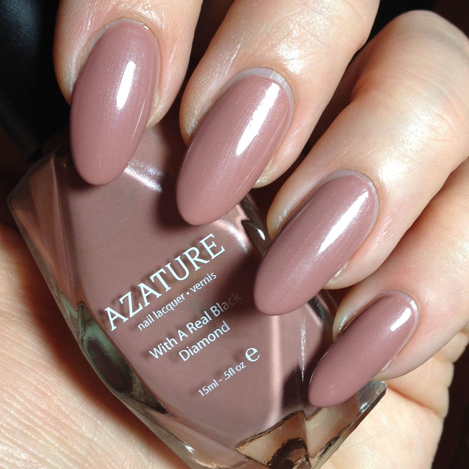 Azature black diamond nail polish in Latte Diamond. The entire 40 ...