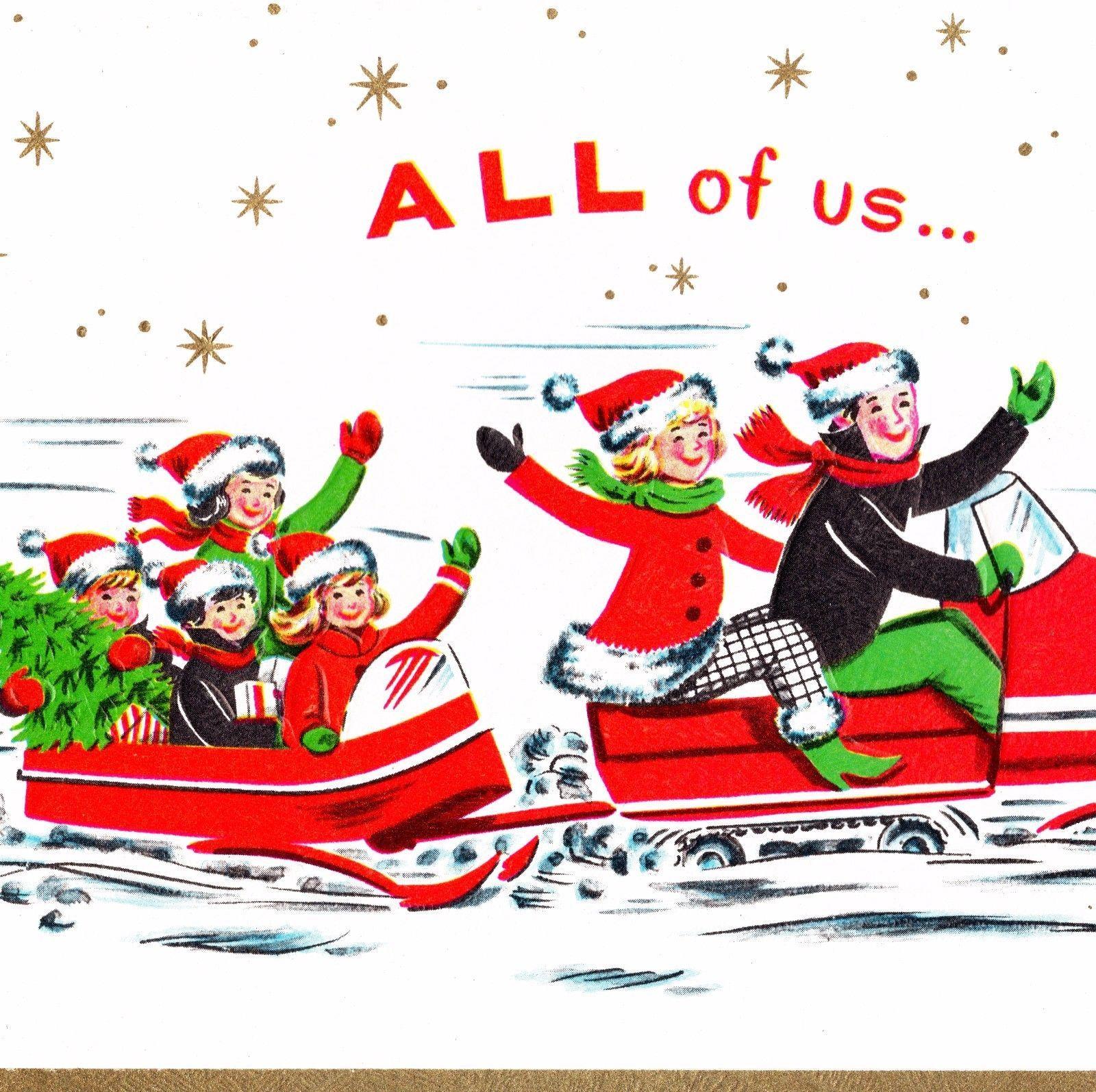 Vintage Christmas Greeting Card 1960's Vintage christmas