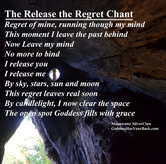 Release Regret Chant (Printable Spell Page) | Witches Of The Craft