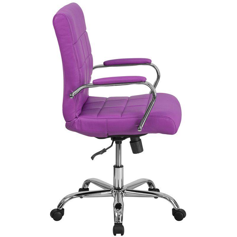 Purple Contemporary Swivel Office Chair