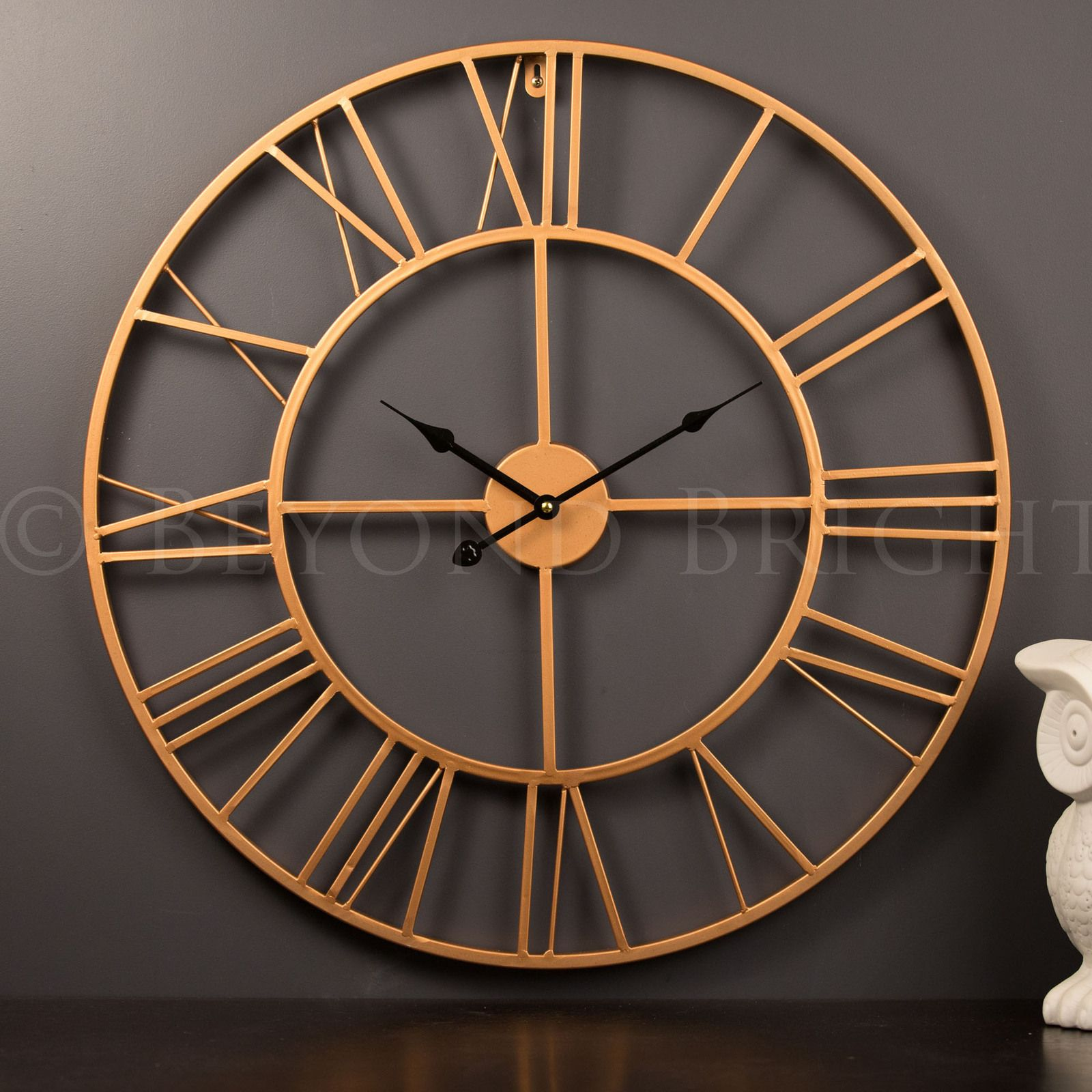 Large Wall Clock Measuring In Diameter Will Suit Any Decor From Modern  Industrial To French Provincial And Be A Statement Piece Is Sure Impress  Copper 60cm ...