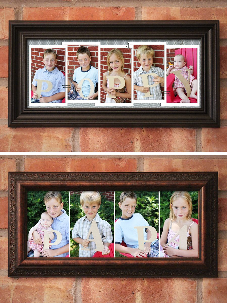 Baby Boy Mirrored Word Block Photo Frame Gift