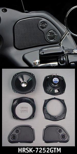 """J/&M Audio Performance 7.25"""" Fairing Speaker Kit Front Speakers Harley Touring"""