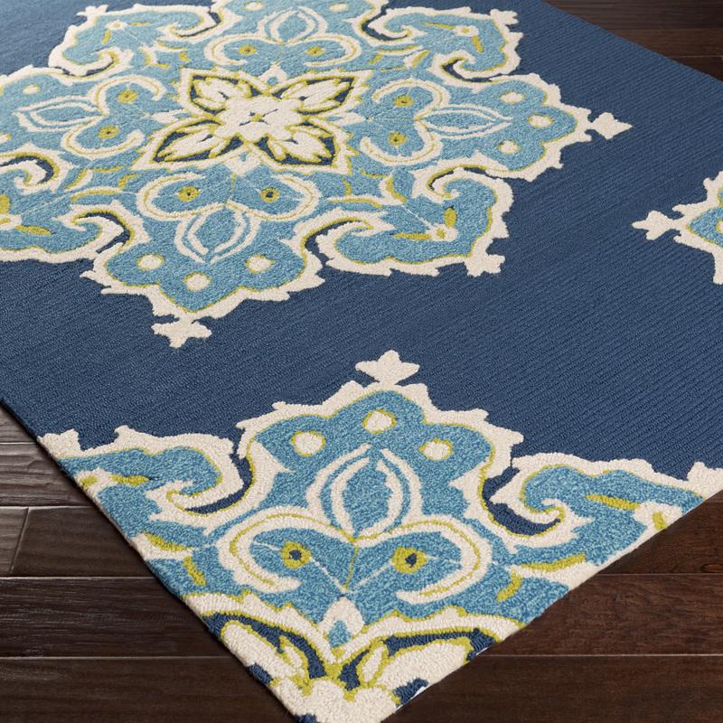 Blue Indoor Outdoor Carpet Floral | Indoor Outdoor Carpets ...