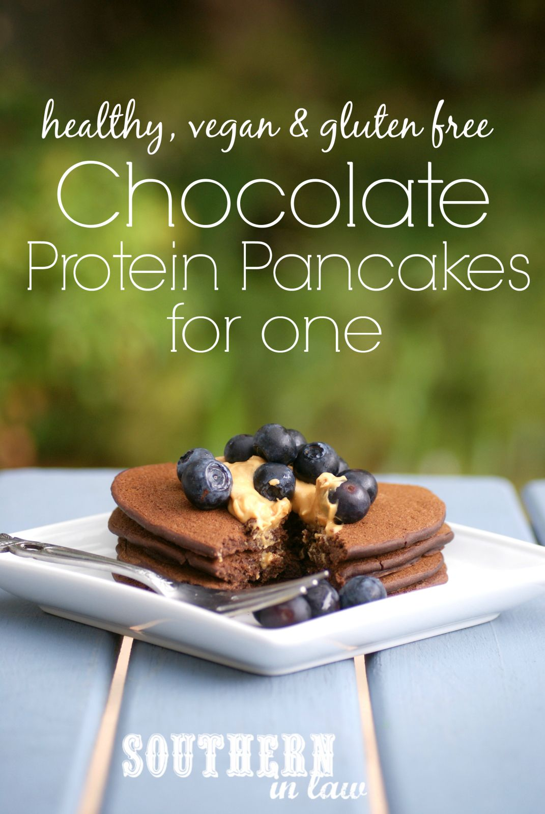 You will never guess that these Chocolate Protein Pancakes are totally healthy as they are so delicious. They are also sugar free, gluten free, low fat and vegan!