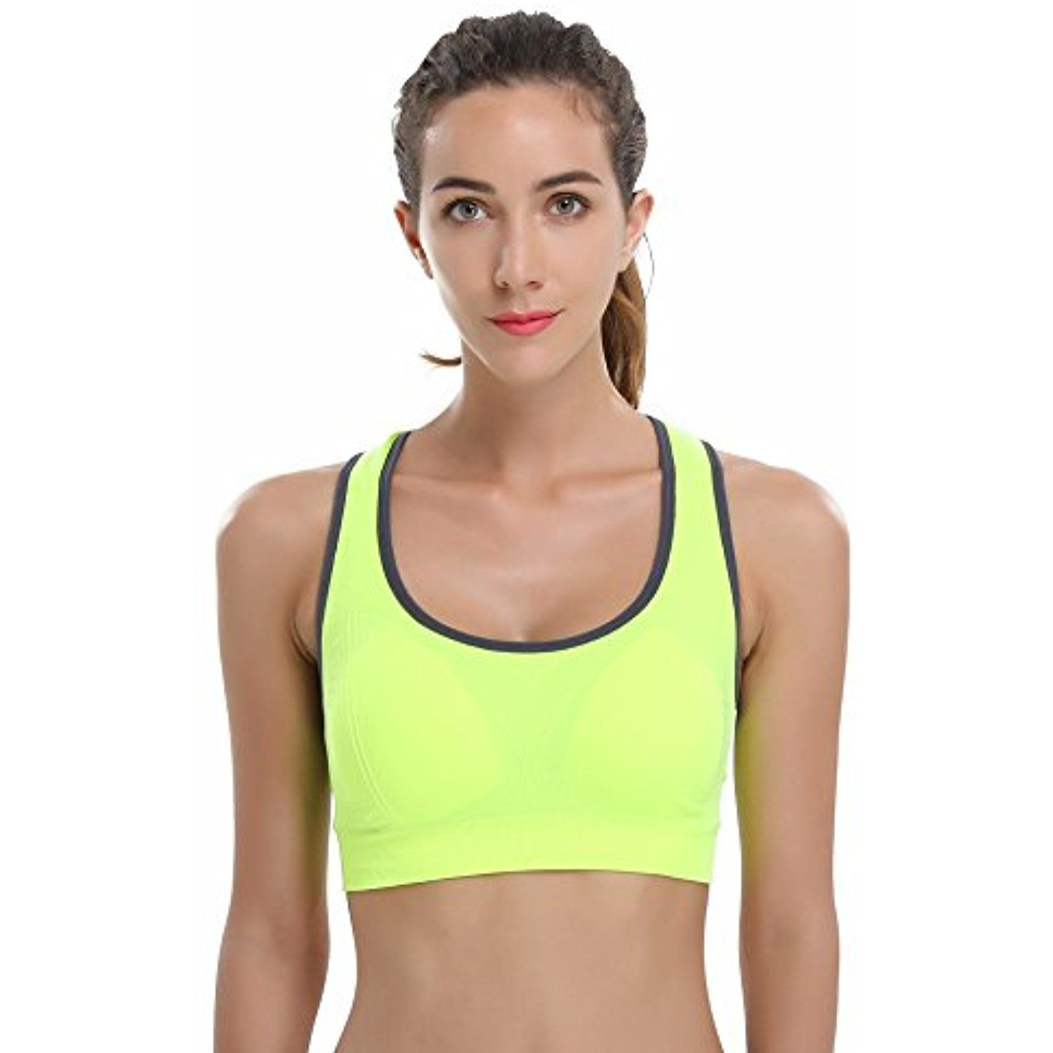 e9f08e7de22e4 VIQIYA Women's High Impact Sport Bra Removable Padded Breathable Gym and  Yoga Racerback