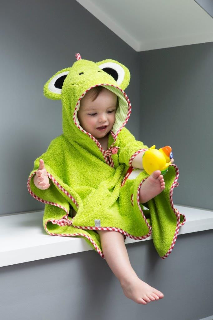Badeponcho nähen - Tipps und Tricks | Kinder | Nähen baby ...