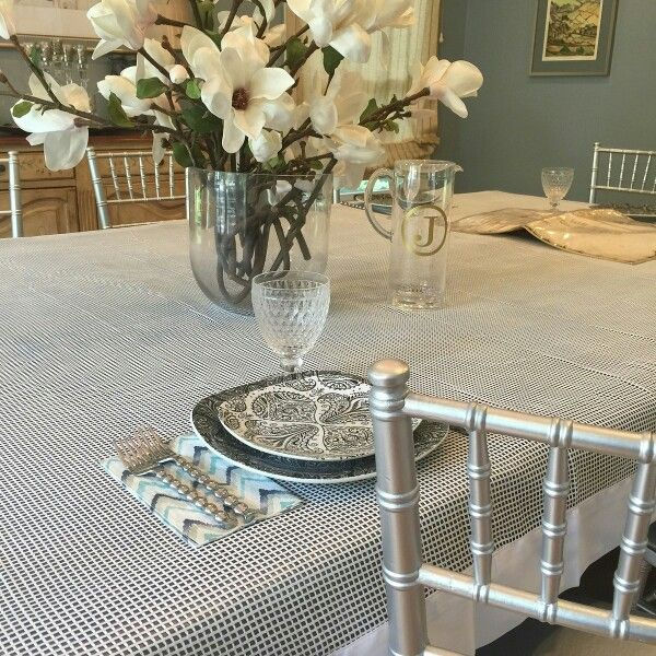 (Net) Fishnet Style Tablecloth To Throw On Will Beatifiy Any Table ! And  Itu0027s