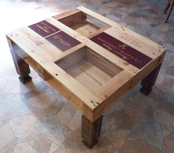 Wine Display Coffee Table van ArtisticInterpreters op Etsy