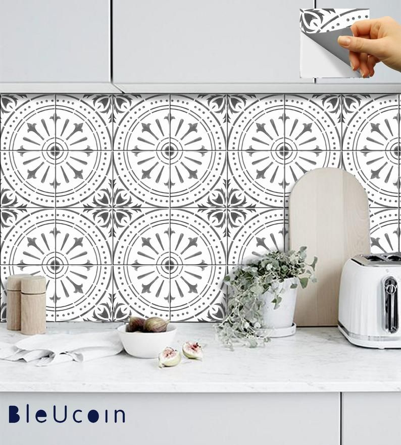 Naples Tile Wall Stair Floor Self Adhesive Vinyl Etsy In 2020 Flooring For Stairs Stick On Tiles Peel And Stick Floor