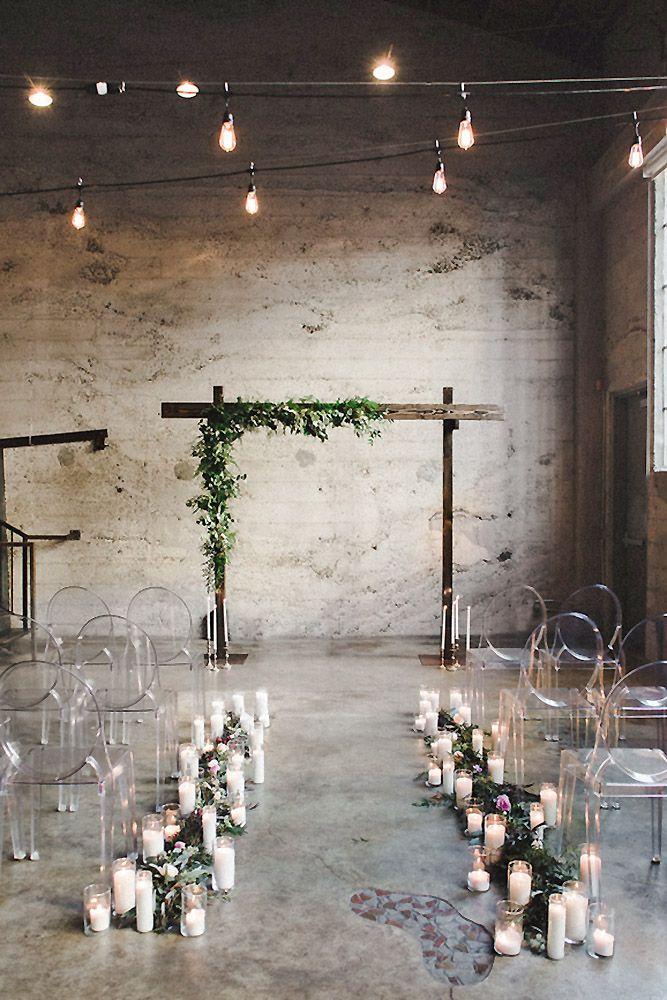 30 Lovely Wedding Loft Decorating Ideas Wedding Forward Loft Wedding Ceremony Industrial Wedding Ceremony Wedding Aisle Decorations