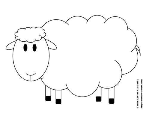 Try counting sheep printable counting activity for for Lamb cut out template