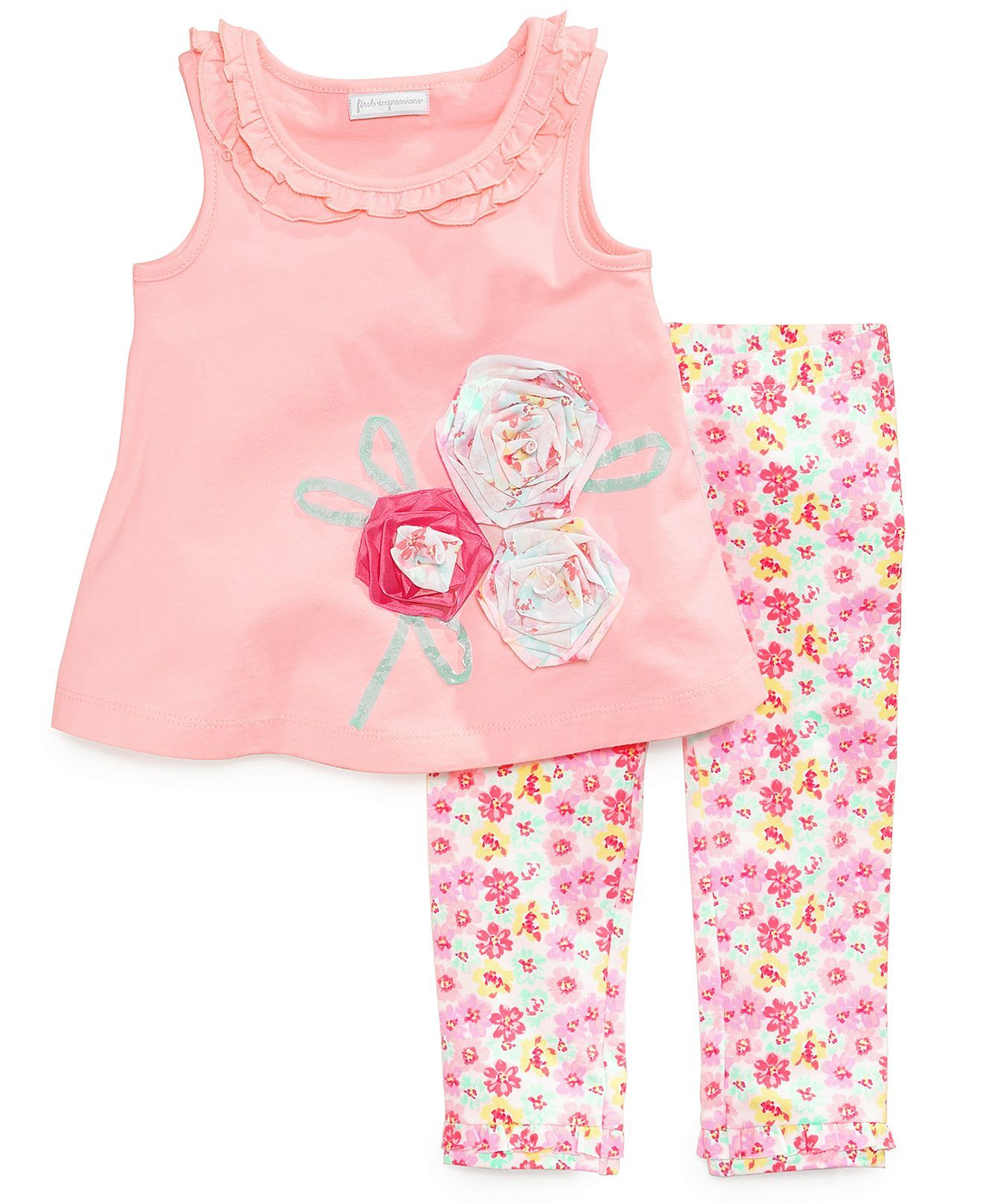 First Impressions Baby Girls Piece Tunic Leggings Set