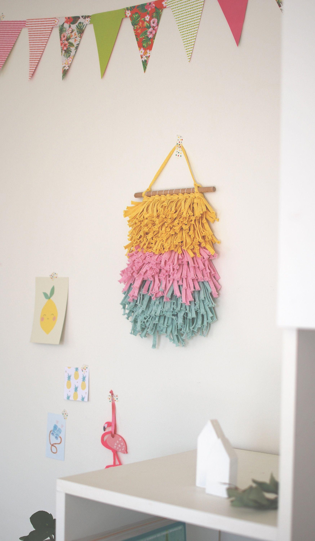 Tissage mural d coration murale pastel de la boutique cosyjungle sur etsy jaune comme - Tenture chambre bebe ...