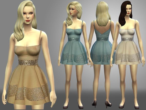 The Sims Resource: Cocktail dress by Nia � Sims 4 Downloads