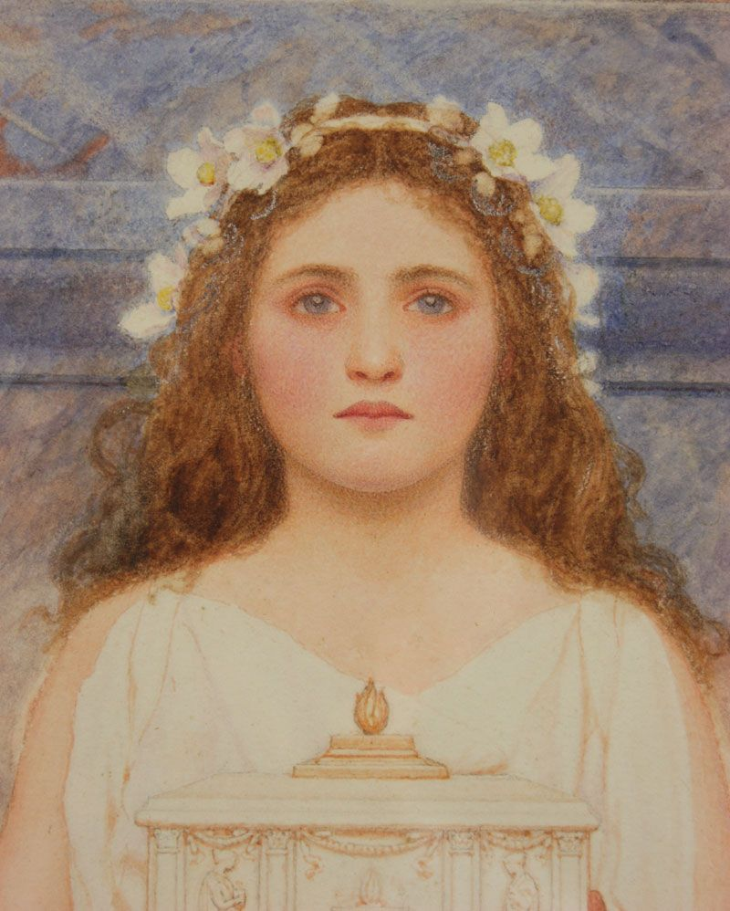 George Lawrence Bulleid (British, 1858-1933): The Vestal Virgin, watercolour.