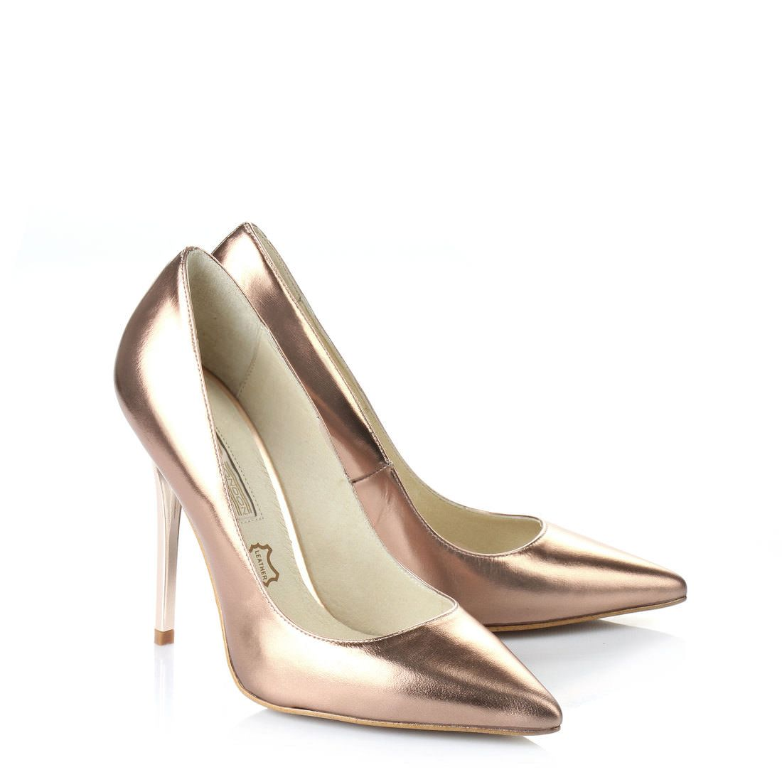 London Footwear , Damen Pumps Braun Bronze