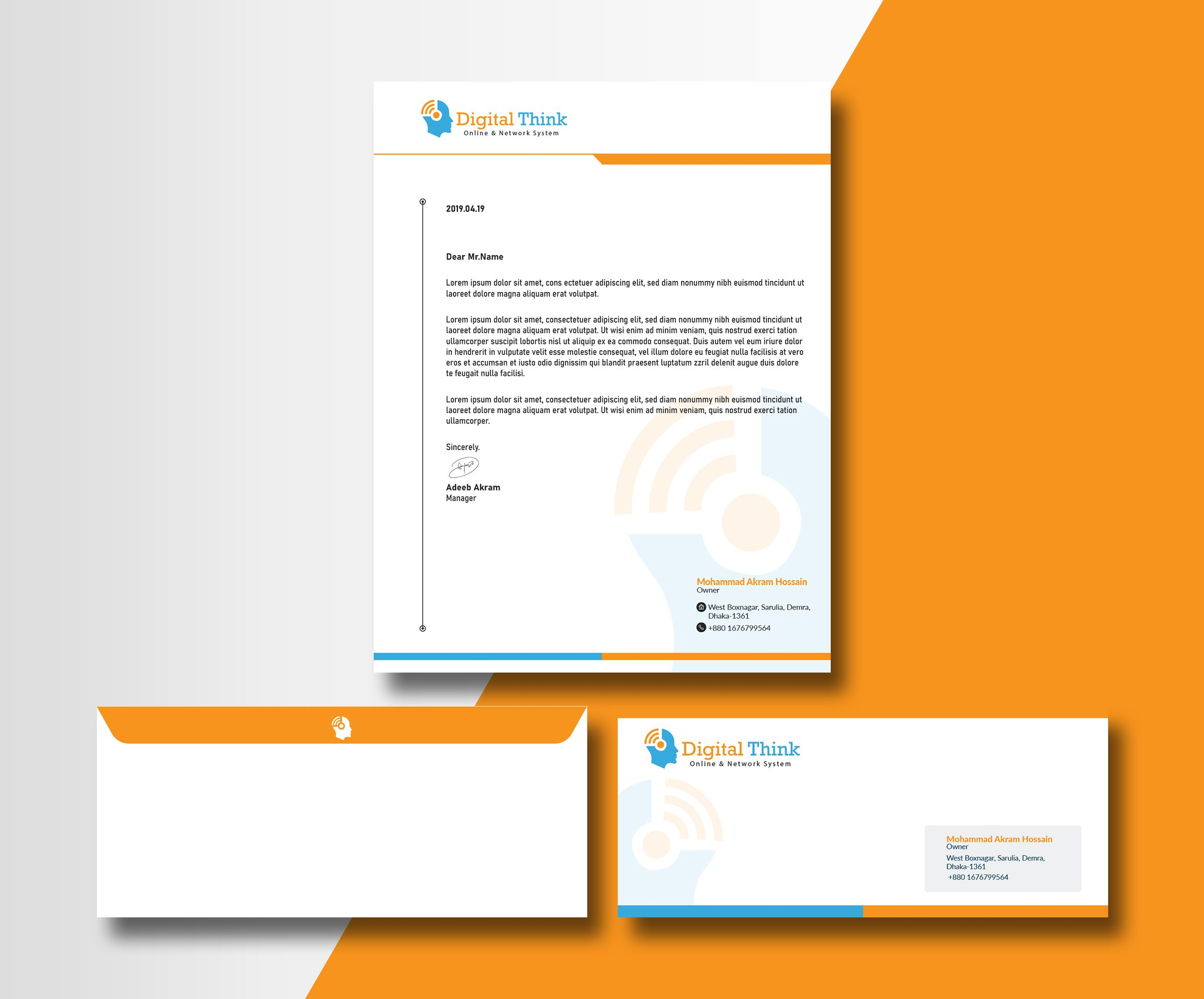 Design business card, gift card and email signature for