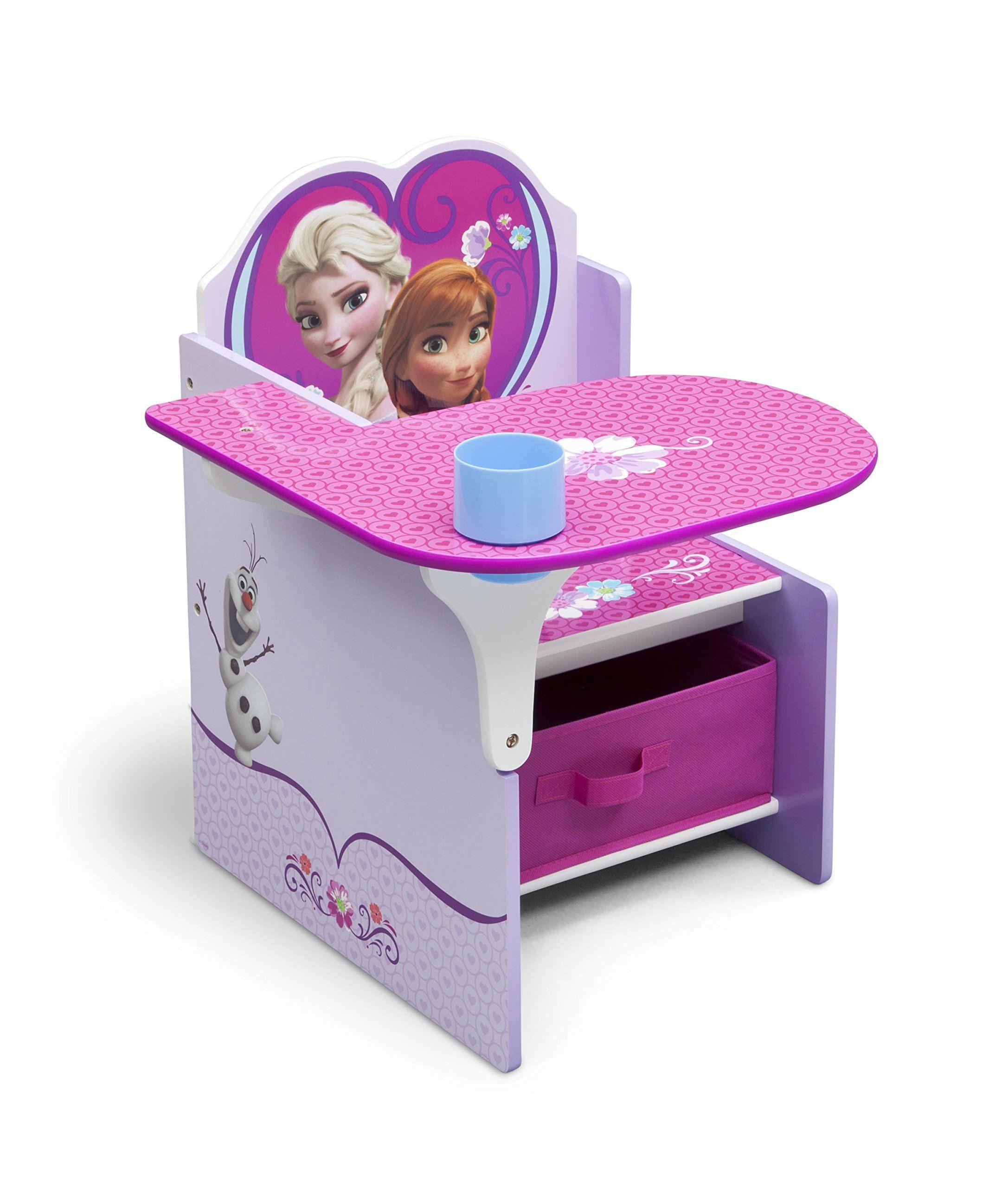 Amazon Com Delta Children Chair Desk With Storage Bin Disney Frozen Baby Giftryapp Kids Storage Units Kids Chairs Kids Playroom Furniture
