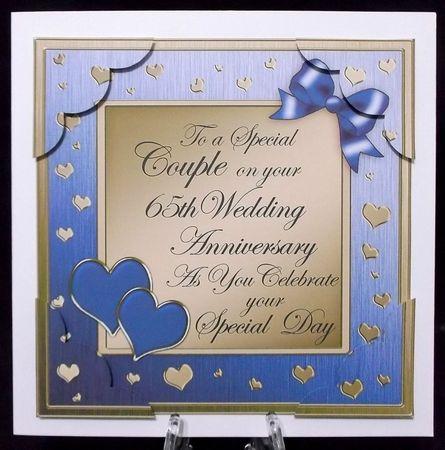 8x8 65th Wedding Anniversary Scalloped Corner Photo By Suzi Cooper Aka Alyssuzi 65th Wedding Anniversary Wedding Anniversary Cards Anniversary Cards Handmade
