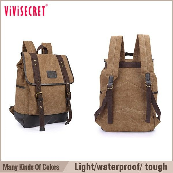 Vivisecret lazer mochila lona saco de lona com acabamento em couro PU militar mochila-imagem-Mochilas-ID do produto:60174149171-portuguese.alibaba.com