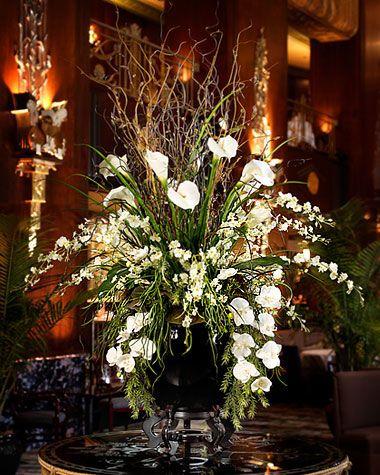 Grand impression silk flower arrangement phalaenopsis Christmas orchid arrangements
