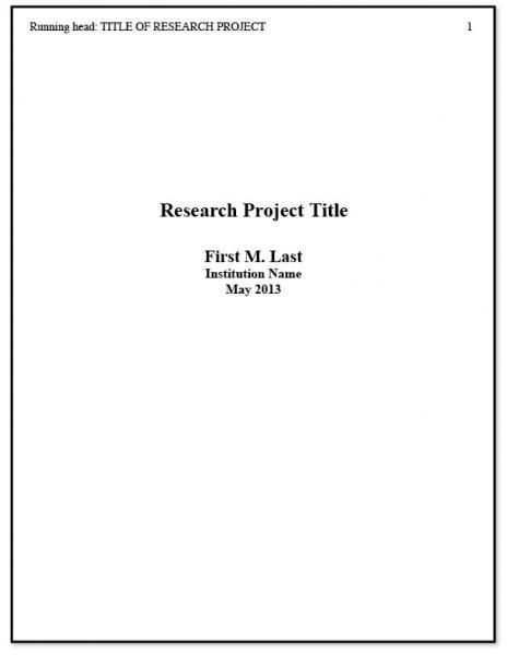 Title Page Apa Ideas Tree Essay Example Style Term