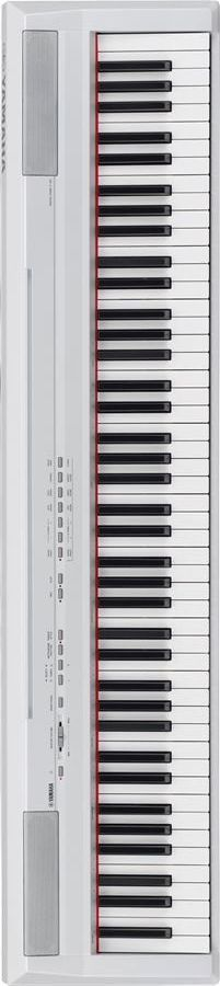 yamaha p 105 88 key white digital piano with weighted keys music digital piano portable. Black Bedroom Furniture Sets. Home Design Ideas