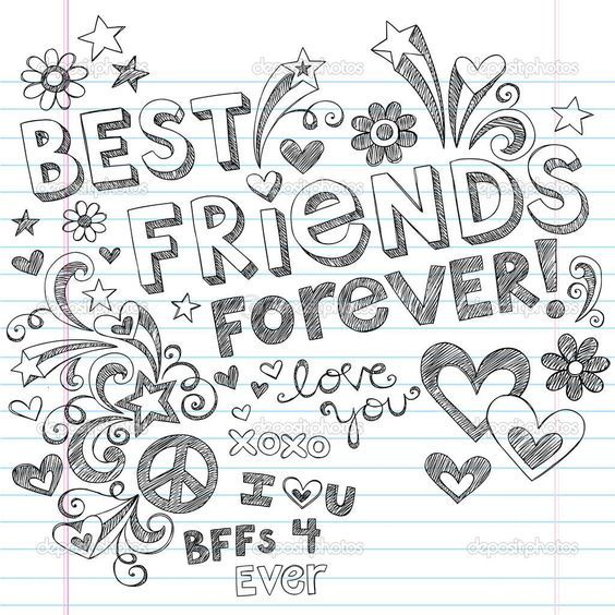 best friends coloring pages Best Friends Forever Coloring Pages Coloring Pages & Pictures  best friends coloring pages