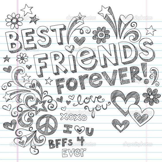 Yscoloring Com Friends Illustration Drawings Of Friends Best Friend Drawings