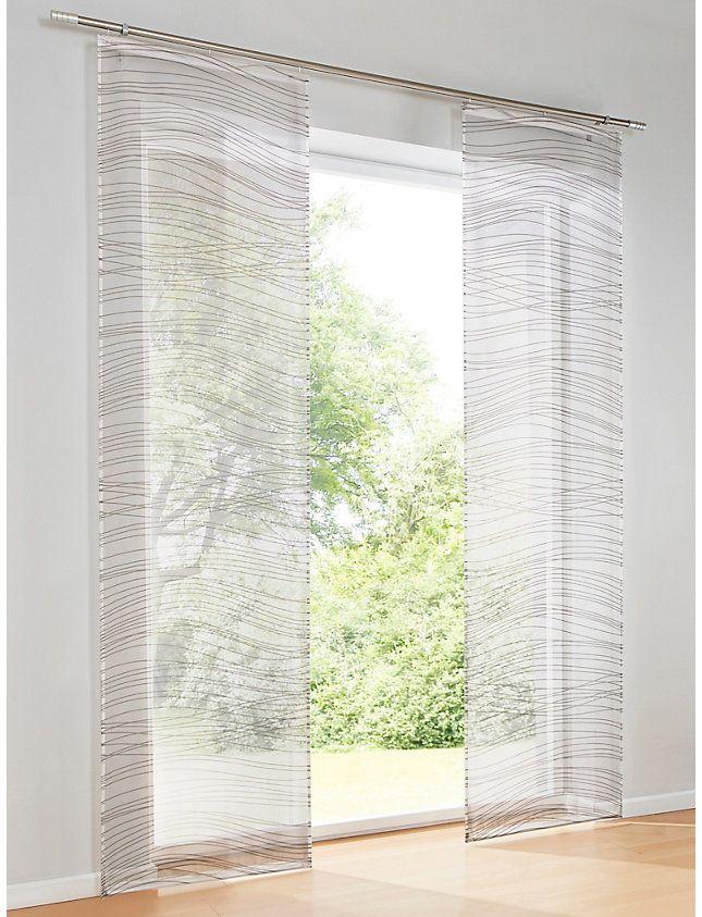 Heine Home Schiebevorhang Weiss Taupe Im Heine Online Shop Kaufen Schiebevorhang Vorhange Fenstersichtschutz