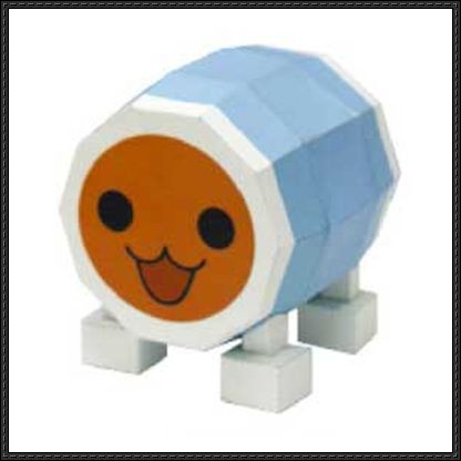 Taiko no Tatsujin - Taiko Drum Free Paper Toy Download - http://www.papercraftsquare.com/taiko-no-tatsujin-taiko-drum-free-paper-toy-download.html