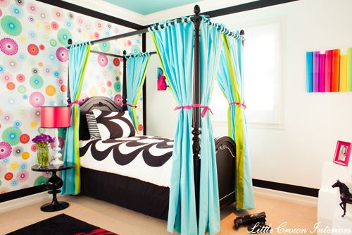 Charming Crazy Colorful Girlu0027s Bedroom