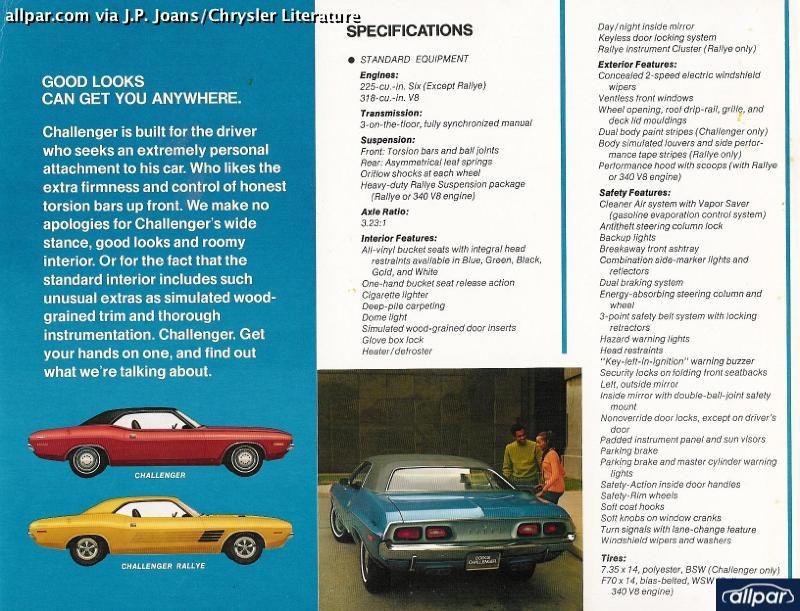 Specs Dodge Challenger Challenger Muscle Car Ads