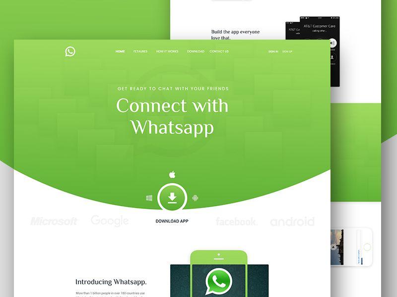 Whatsapp App Landing Page App Landing Page Landing Page App