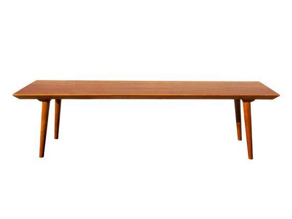 Mid Century Modern Casara Modern Coffee Table Solid Wood 60 Long Or 48 Long Modern Coffee Tables Solid Wood Coffee Table Table
