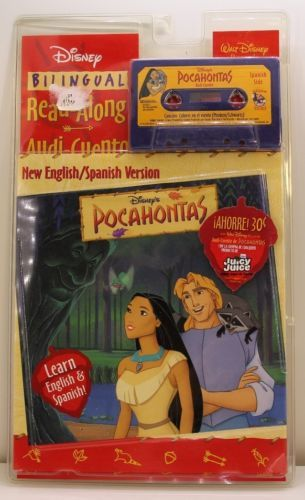 Disney Read Along Cassette Pocahontas Bilingual English Spanish Cassette Tape 1557237786 | eBay