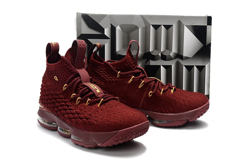 b00fbdb276d81 Youth Big Boys Lebron 15 Wine Gold Burgundy Cavs Color Cheap Youth Big Boys  Lebrons