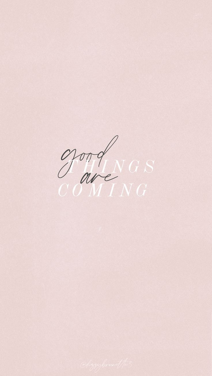 GOOD THINGS ARE COMING! ☘