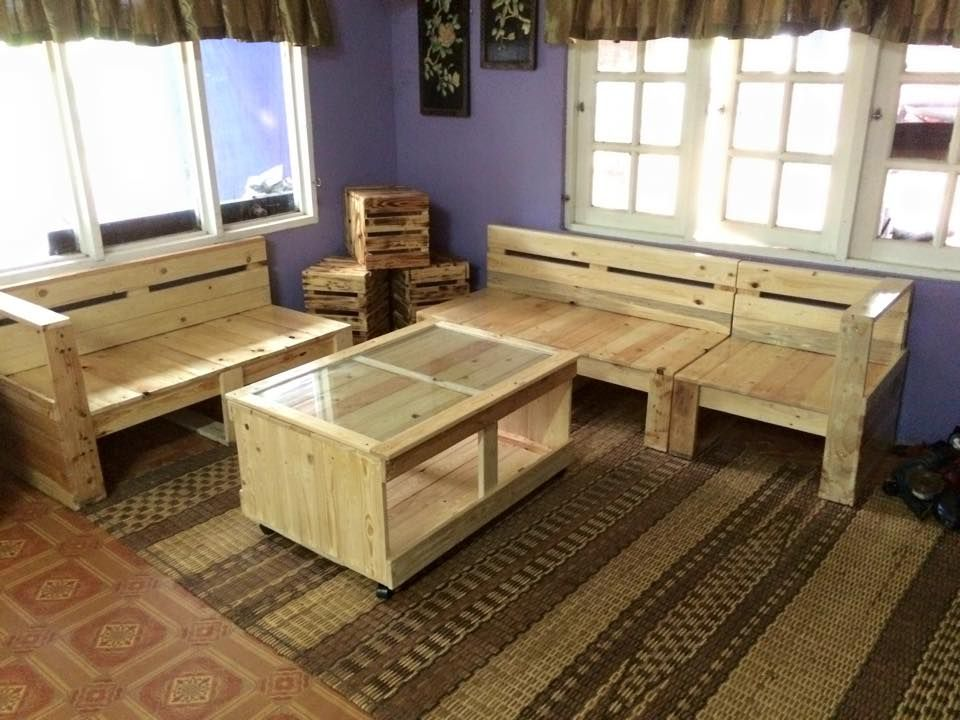 Pallet Living Room Furniture Set | 99 Pallets Great Ideas