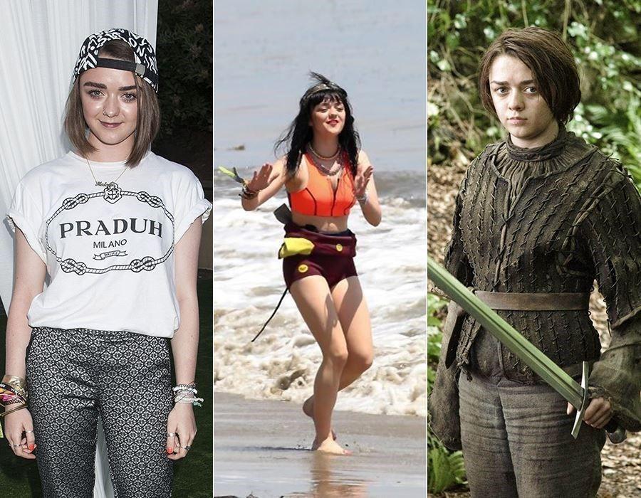 Maisie Williams de Game of Thrones de dépenaillée à chic