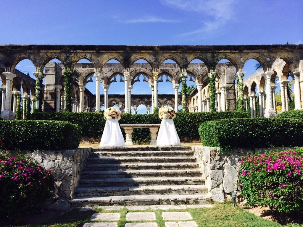 The Cloisters Is A Magical And Beautiful Wedding Venue Located On Paradise Island At The One Only Ocean Beautiful Wedding Venues Bahamas Wedding The Cloisters