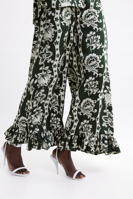 Photo of Blomstrede bukser med flæser,  #Blomstrede #bukser #bukserDame