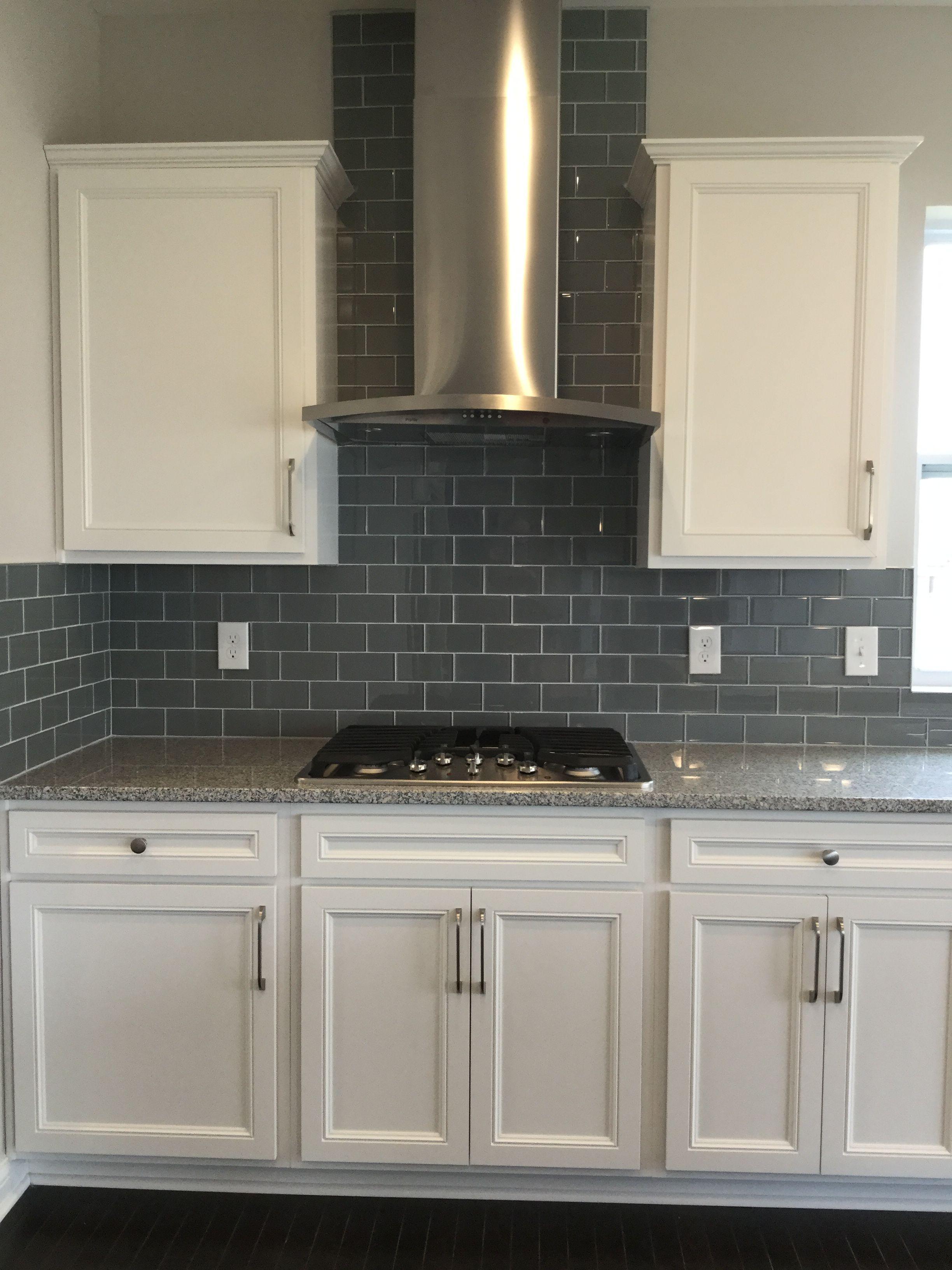 Color Wave 3x6 Smoked Pearl Backsplash Tiles Home Kitchens